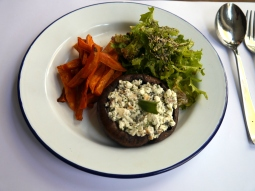 Vegetarians of London - Portobello mushroom with feta and sage